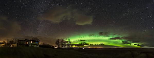 Aurora Panorama from Home (Nov 4, 2018)