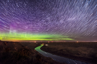 Star Trails over the Red Deer River