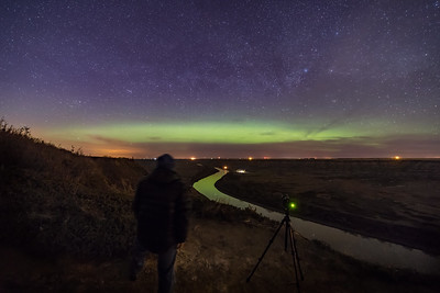 Photographing the Aurora over the Red Deer River