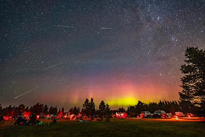 Perseids over Star Party (August 10, 2018)