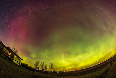 Aurora with Red Curtains (Oct 11, 2021)