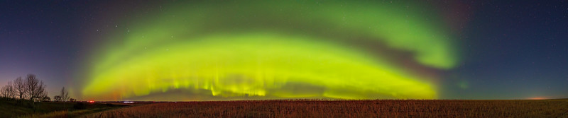 Panorama of the Auroral Storm of October 11, 2021