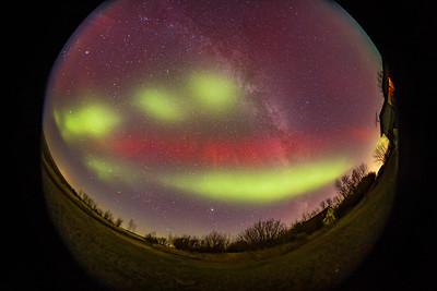 Aurora with Red SAR Arc and Blobs #1 (Oct 11, 2021)