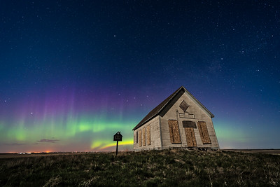The Liberty Schoolhouse with Aurora