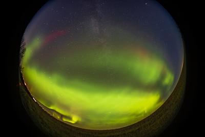 Aurora with Dunes Structures - Fish-Eye (Oct 11, 2021)