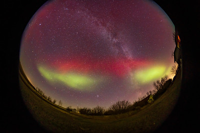 Aurora with Red SAR Arc and Blobs #2 (Oct 11, 2021)