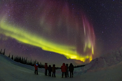 Group Viewing the Aurora at CNSC