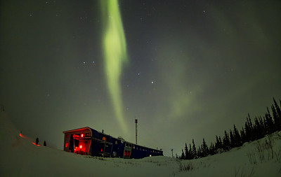 Aurora from Churchill Northern Studies Centre (March 15, 2020) Looking West
