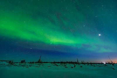 Aurora in Orion over the Rocket Range