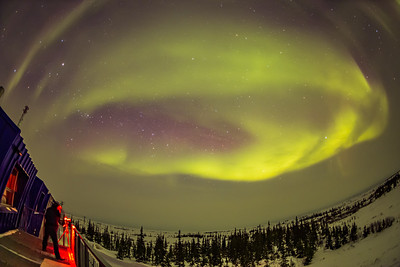 Aurora from Churchill Northern Studies Centre (March 15, 2020) From Deck