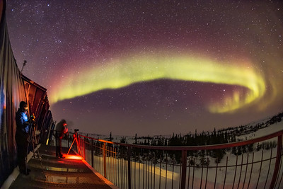 Aurora Photographers on the CNSC Deck