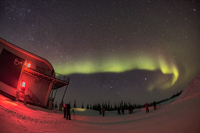 Aurora Tourists at Churchill  Northern Studies Centre