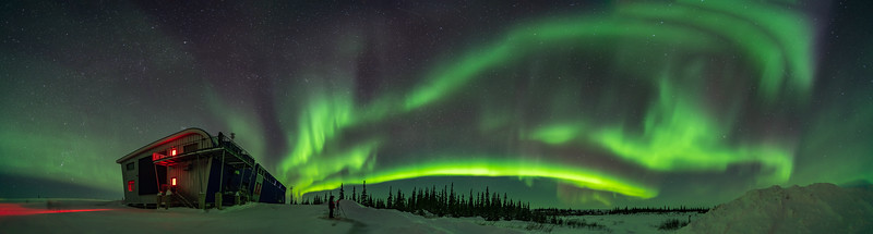 Panorama of the Northern Lights from Churchill (March 18, 2020)
