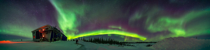 Aurora Panorama at Northern Studies Centre (March 18, 2020)