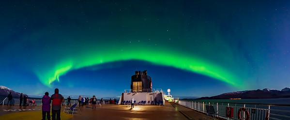 Panorama of the Auroral Oval over the Norwegian Sea
