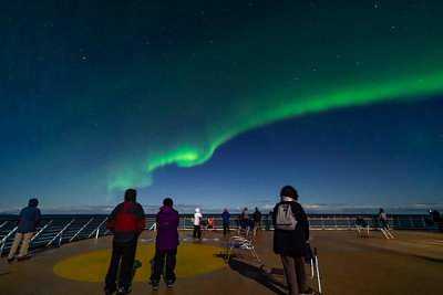 Observing the Northern Lights from ms Trollfjord (Oct 16, 2019) v8