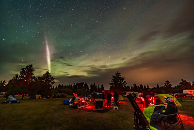 STEVE Auroral Arc over Saskatchewan Star Party