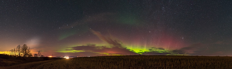 Thanksgiving Harvest Aurora Panorama #2