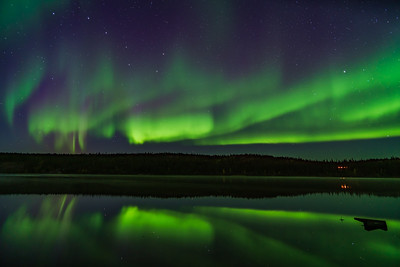 Aurora Reflections at Madeline Lake #1