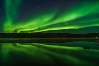 Aurora Reflections at Madeline Lake #3