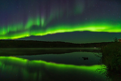 Aurora Reflections at Madeline Lake #2
