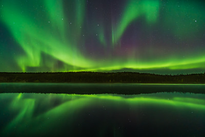 Aurora Reflections at Madeline Lake #6