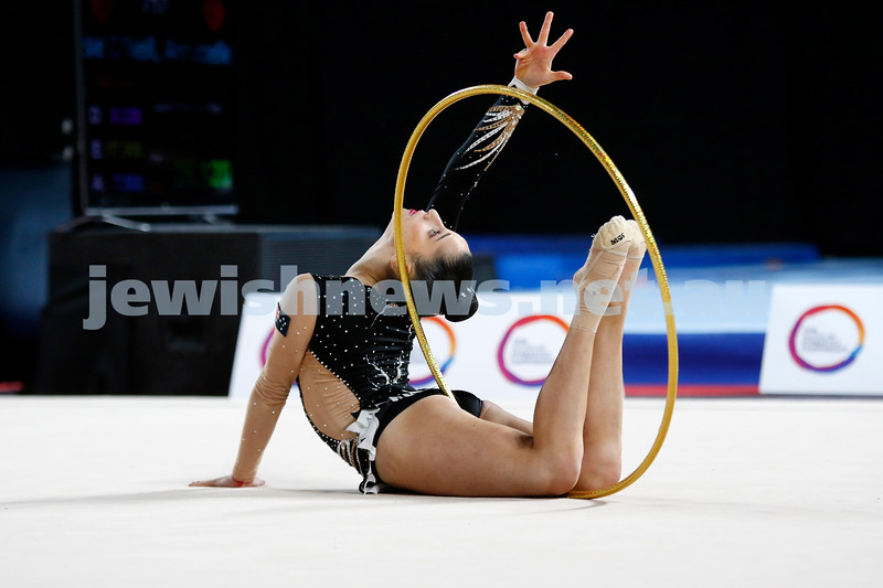 2018 Australian Gymnastics Championships. Hisense Arena, Melbourne. Rashelle Feldman. Rhythmic Gymnastics, Junior International. Photo: Peter Haskin