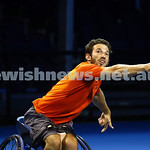 28-1-16. Australian Open 2016. Adam Kellerman (AUS) and Maikel Scheffers (NED). Wheel chair doubles. Photo: Peter Haskin