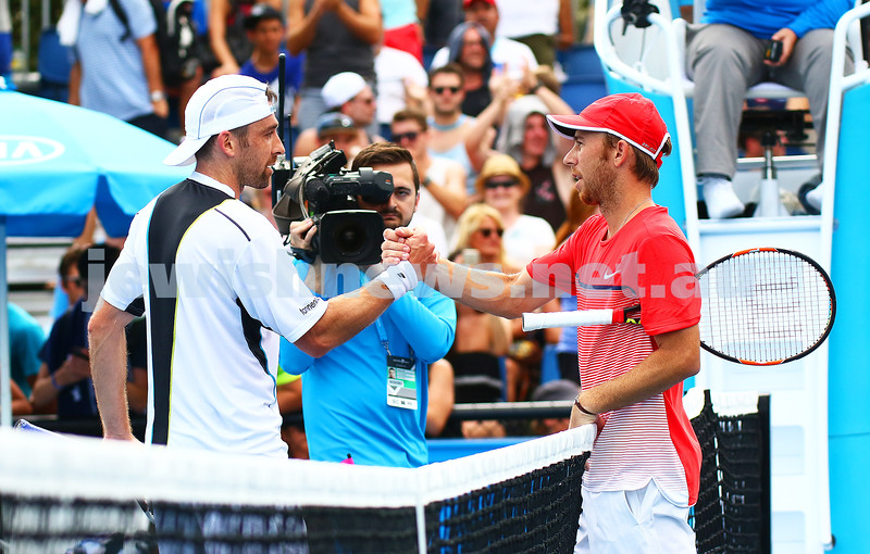 19-1-16. Australian Open 2016. Mens Round 1. Dudi Sela defeated Benjamin Becker from Germany 6-1 6-3 2-6 6-2.  Photo: Peter Haskin