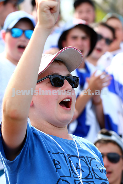 19-1-16. Australian Open 2016. Mens Round 1. Dudi Seli def Benjamin Becker (Ger) 6-2 6-3 2-6 6-2. Dudi Sela fans cheering him on. Photo: Peter Haskin