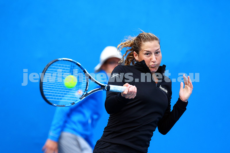 14-1-16. Australian Open Womens Qualifying round 1. Shahar Peer lost to Kristyna Pliskova 4-6 6-4 3-6. Photo: Peter Haskin