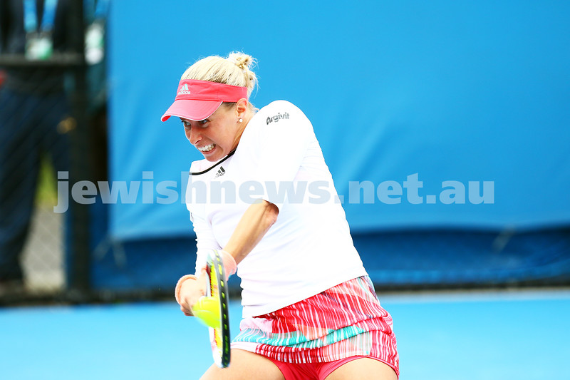 14-1-16. Australian Open Womens Qualifying round 1. Andrea Hlavackova. Photo: Peter Haskin