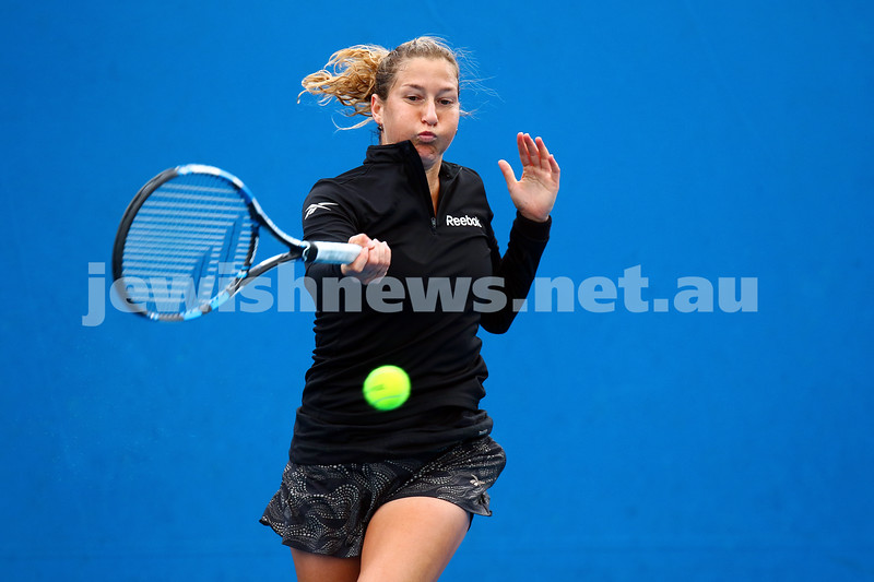 14-1-16. Australian Open Womens Qualifying round 1. Shahar Peer lost to Kristyna Pliskova 4-6 6-4 3-6. Photo: Peter Haskin