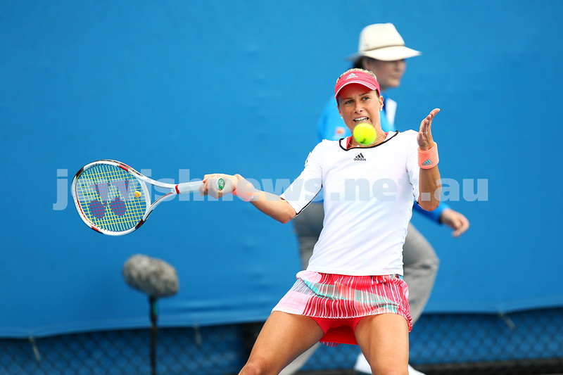 14-1-16. Australian Open Womens Qualifying round 1. Andrea Hlavackova. Photo: Peter Haskin