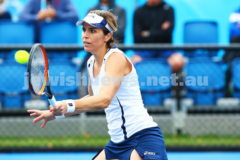 14-1-16. Australian Open Womens Qualifying round 1. Maria Jose Martinez Sanchez. Photo: Peter Haskin