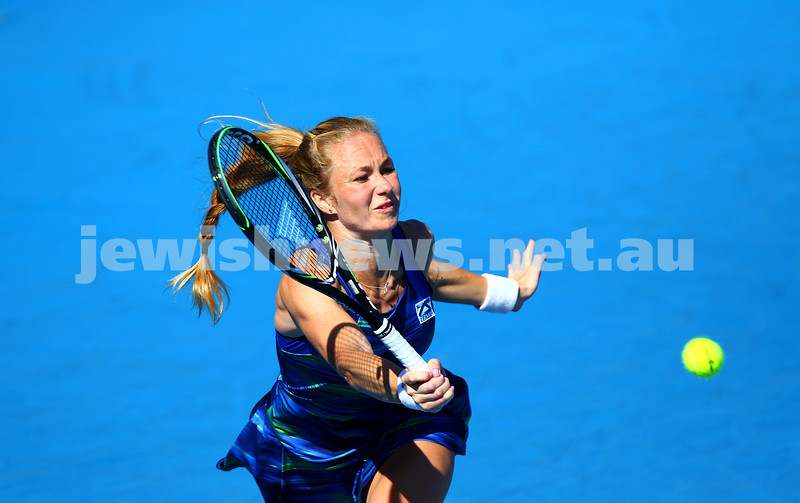 16-1-16. Australian Open Womens Qualifying round 3. Julia Glushko lost to  Luksika Kumkhum 4-6 2-6. Photo: Peter Haskin