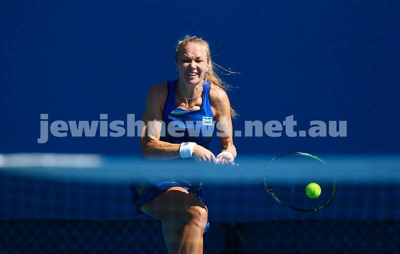 16-1-16. Australian Open Womens Qualifying round 3. Julia Glushko lost to  Luksika Kumkhum 4-6 2-6. Photo: Peter Haskin