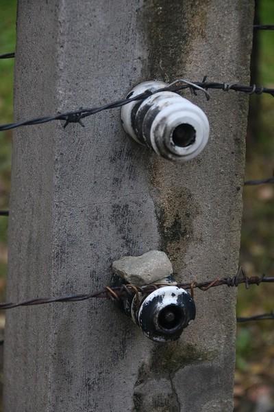 Electric fence close up.