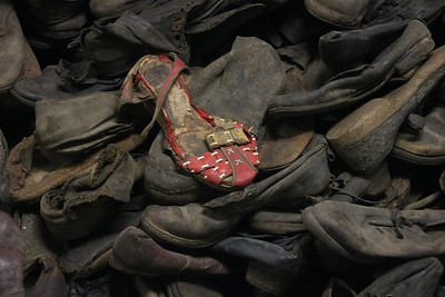 Actual shoes of Auschwitz victims.