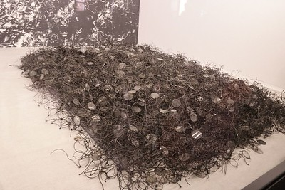 In most cases victims had to shed all clothes and even glasses before being gassed. This is my photo of the actual pile of glasses on permanent display.