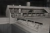 Model section showing gas chamber lower level, and the ovens above. Conscripted prisoners served as the slave labor to take the bodies up one level to the ovens.