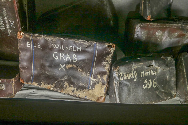 Actual suitcases of victims.