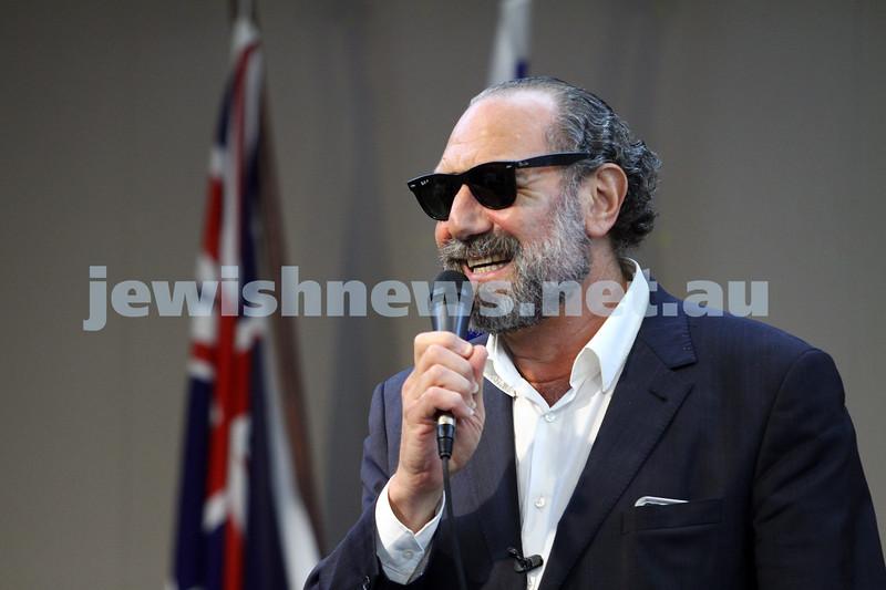 26-10-14. Melbourne Hebrew Congregation presents Austen Tayshus performing at Beth Weizmann. Photo: Peter Haskin