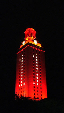 Tower lit after the national football championship