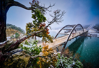 Austin Snowday 2021 Pennybacker Bridge wide