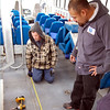 Measuring - the Q'Straint securement system must be placed exactly right for maximum safety.