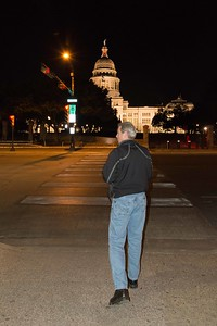 Terry walking across to the Capital Building