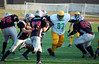 Ammber Baston, #65, making a great block on #97 and allowing a few more yards gained.