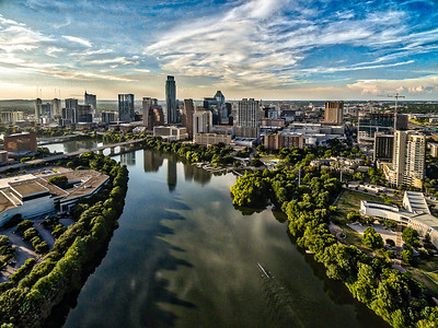 Blue Lady Bird Lake Austin Skyline 3