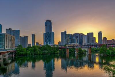 Sunrise over Austin.